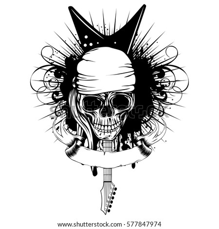skull music stock images royalty free images vectors shutterstock. Black Bedroom Furniture Sets. Home Design Ideas