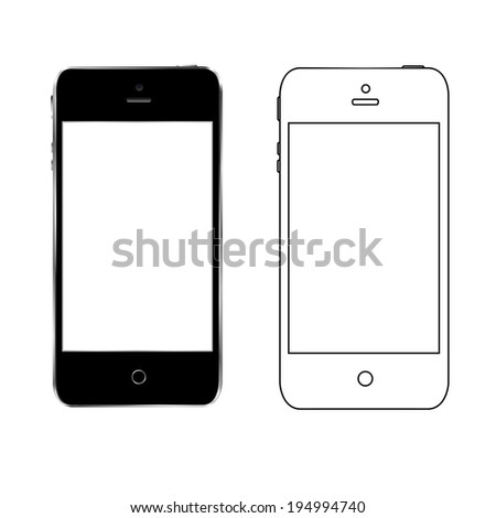 vector illustration half drawing half a realistic number on a white background - stock vector