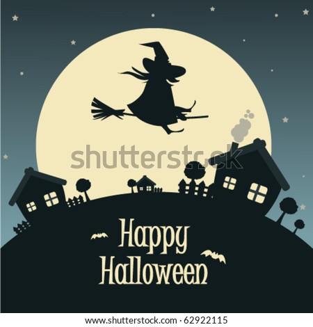Vector illustration Halloween background for party invitation
