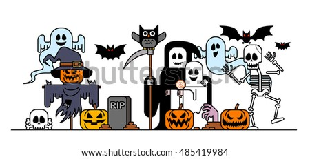 Vector illustration - Halloween characters