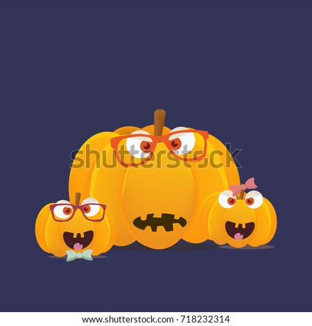 vector halloween pumpkins mascots isolated funny halloween pumpkin or squash characters faces