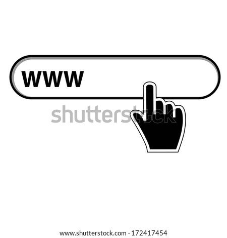 Vector illustration hand cursor mouse website - stock vector