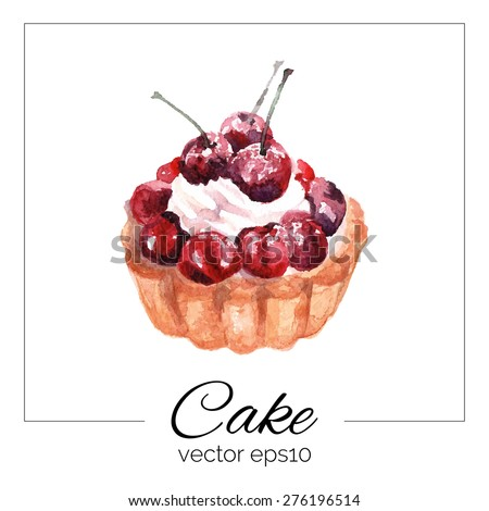 Cherry Pie White Background Stock Vectors & Vector Clip Art ...