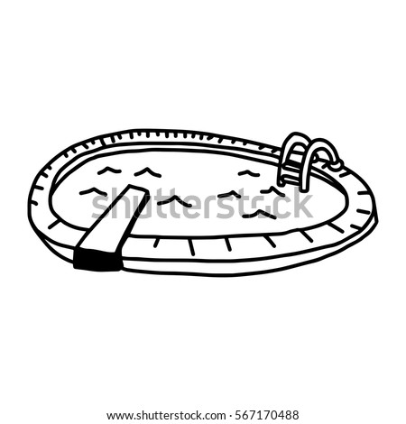 Cartoon swimming pool stock images royalty free images for Swimming pool sketch