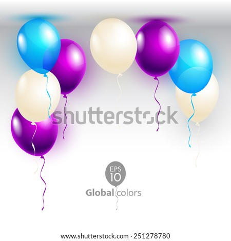 Vector illustration Happy Birthday. Announcement / poster / flyer / greeting card - stock vector