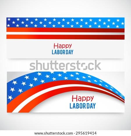 Vector illustration header or banner for Labor Day.