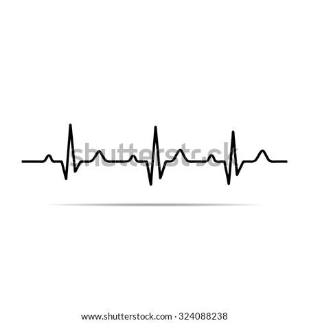 Vector Illustration heart rhythm ekg .vector - stock vector
