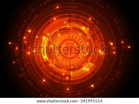 vector illustration Hi-tech digital technology concept, abstract background - stock vector