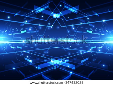 vector illustration Hi-tech digital technology concept, abstract background