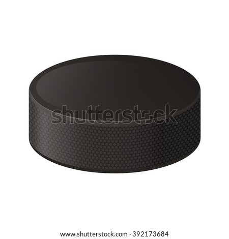Vector illustration. Hockey puck isolated on a white background  - stock vector