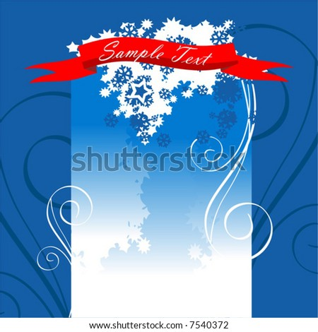 vector, illustration, holiday, christmas, painting, celebration, winter, snowflake, decoration, design, backgrounds, snow, cold, tree, season, shape, blue