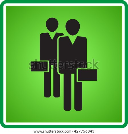 vector illustration icon of two businessmen