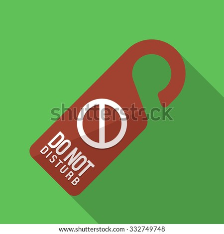 Vector illustration. Icon square shape of sign do not disturb in flat design - stock vector