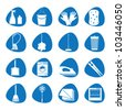Vector illustration icons on cleaning - stock vector