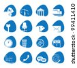 Vector illustration icons on the economy - stock vector