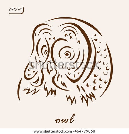 Vector illustration. Illustration shows a owl bird