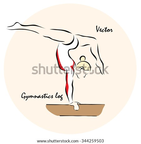 Vector illustration. Illustration shows a Summer Olympic Sports. Gymnastics?