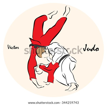 Vector illustration. Illustration shows a Summer Olympic Sports. Judo?