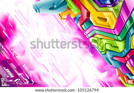 Vector illustration in style graffiti. - stock vector