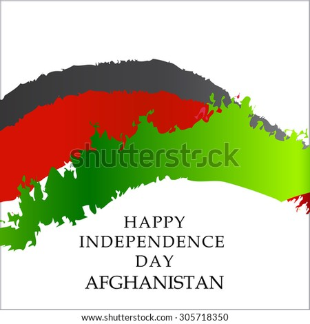 Vector Illustration Independence day of Afganistan.