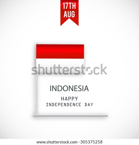 Vector illustration independence day of Indonesia.
