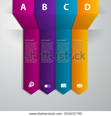 Vector illustration infographics band arrow - stock vector