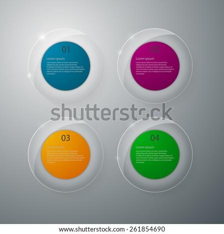 Vector illustration infographics glass circles  - stock vector