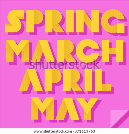 vector illustration inscription spring month names stock vector