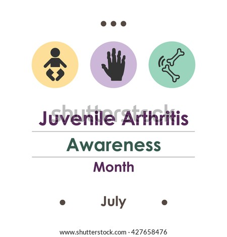Vector Illustration July Is Juvenile Arthritis Awareness Month