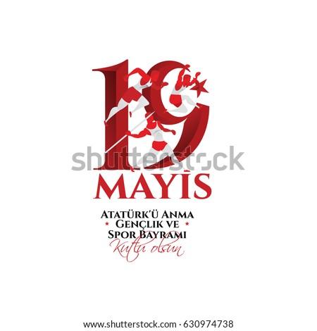 vector 19 mayis anma genclik ve spor bayramiz translation