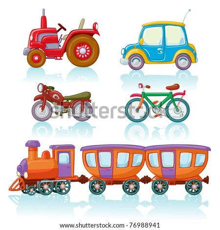 Vector illustration, means of conveyance, cartoon concept, white background, similar images in portfolio. - stock vector