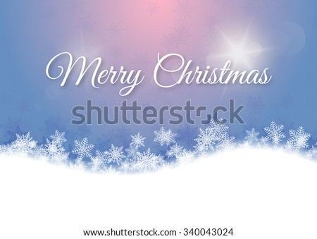 Vector illustration Merry Christmas. Abstract background with light. - stock vector