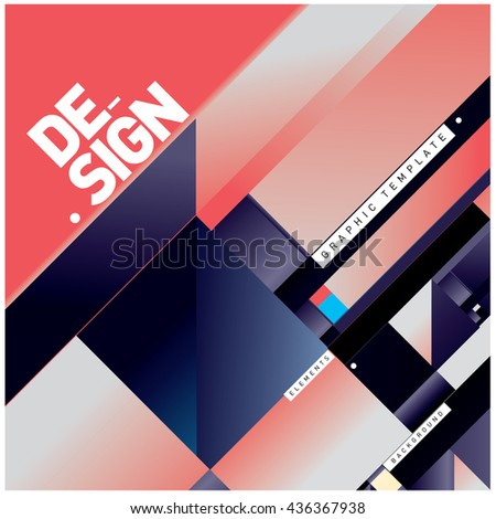 Vector Illustration Modern colorful background material design with diagonal shape. Design template for poster, publication, wallpaper, and web design.