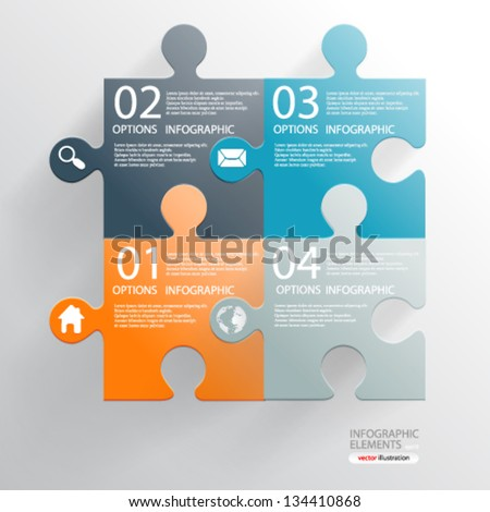 Vector illustration modern infographics  numbered banner option - eps10 - stock vector