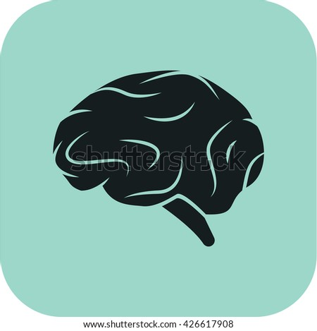 vector illustration modern of surgery mind icon - stock vector