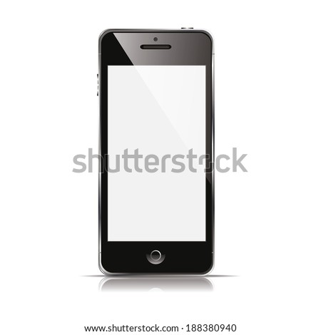 vector illustration modern phone on a white background