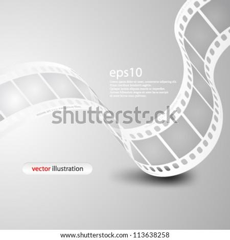 Vector illustration Monochromatic wave film strip - eps10 - stock vector