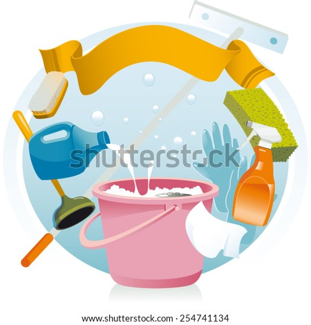 Vector illustration. Most cleaning