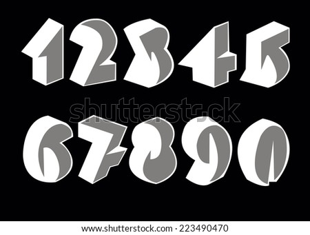 vector illustration number design abstract creative symbol