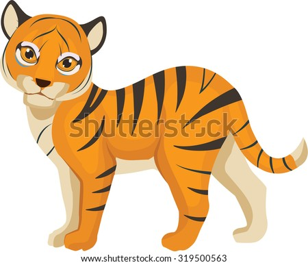 Vector Illustration of a Baby Bengal Tiger