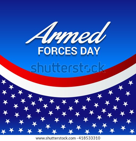 Vector illustration of a background for Armed forces day. - stock vector