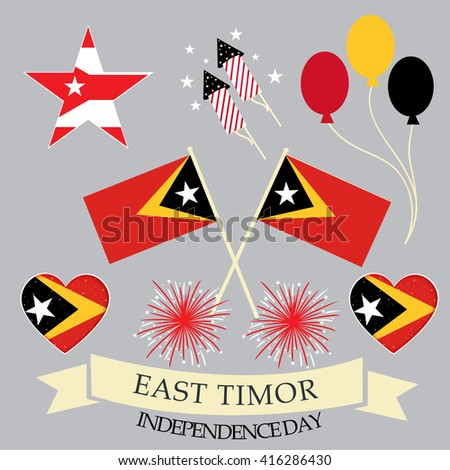 Vector illustration of a background for East Timor Independence day.