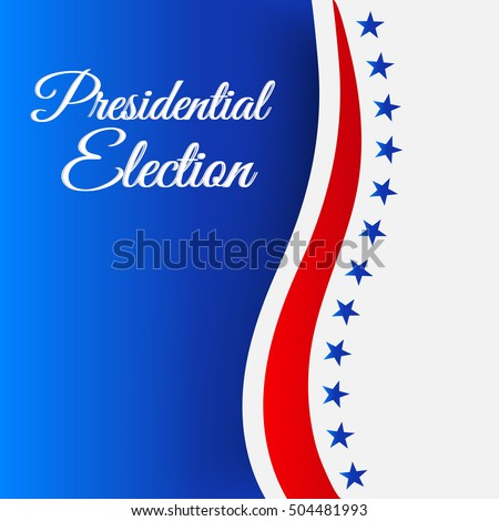 Vector illustration of a Background for Election Day.