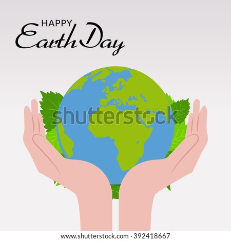 Vector illustration of a background for Happy Earth Day.