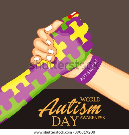Vector illustration of a background for World Autism Day. - stock vector