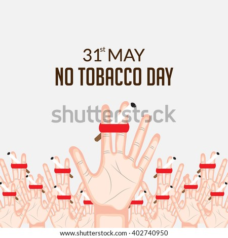 Vector illustration of a background for World No Tobacco Day. - stock vector