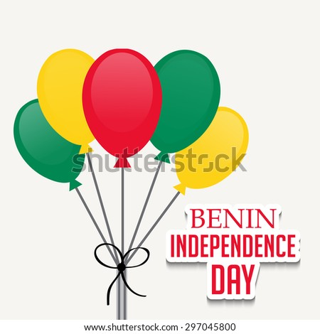 Vector illustration of a Balloons for Benin Independence Day Concept Background.