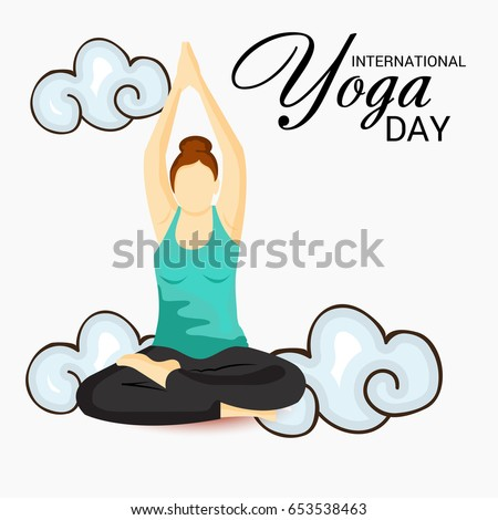 Vector illustration of a Banner for International Yoga Day.