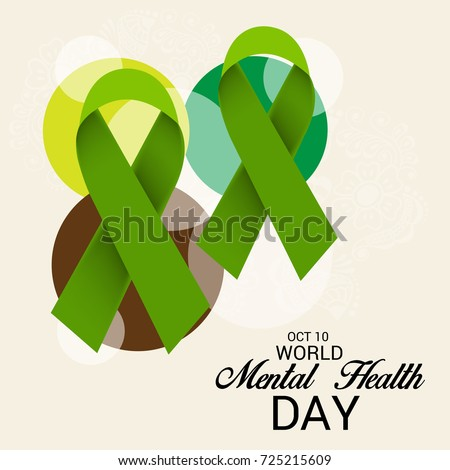 Vector Illustration Of A Banner For World Mental Health Day
