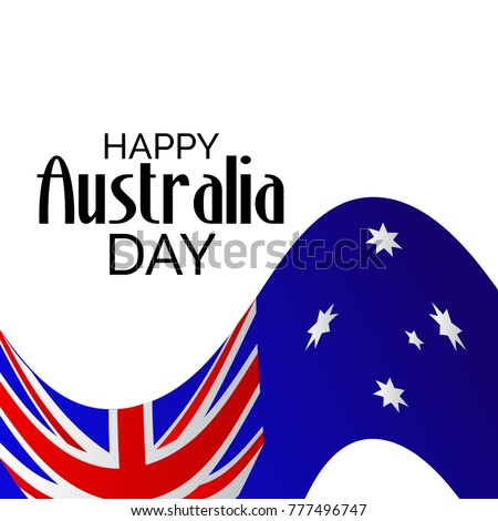 Vector illustration of a banner with Australia flag and map for Happy Australia Day.